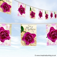 Mothers day bunting design 3 flowers